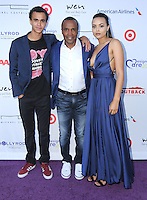 16 July 2016 - Pacific Palisades, California. Daniel Ray Leonard, Sugar Ray Leonard, Camille Leonard. Arrivals for HollyRod Foundation's 18th Annual DesignCare Gala held at Private Residence in Pacific Palisades. Photo Credit: Birdie Thompson/AdMedia