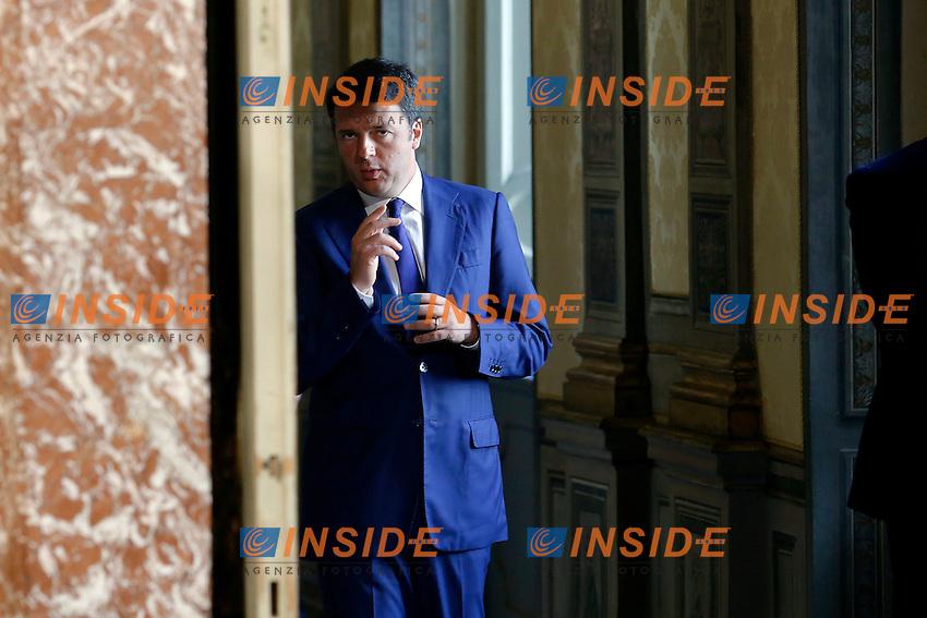 Matteo Renzi<br /> Roma 10-07-2015 Incontro tra il primo ministro italiano ed il Primo Ministro della Repubblica d&rsquo;Irlanda.<br /> Italian premier meets the premier of Irish republic<br /> Photo Samantha Zucchi Insidefoto