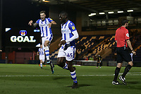 Frank Nouble of Colchester United scores the second goal for his team and celebrates during Colchester United vs Yeovil Town, Sky Bet EFL League 2 Football at the JobServe Community Stadium on 2nd October 2018