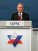 United States Senate Republican Leader Mitch McConnell (Republican of Kentucky) speaks at the annual American Israel Public Affairs Committee (AIPAC) Policy Conference at the Washington Convention Center in Washington, D.C. on Monday, March 5, 2012..Credit: Ron Sachs / CNP