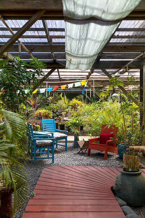 Sacred Garden of Maliko, a garden and nursery at Maliko Gulch near Makawao, Maui, Hawaii, USA