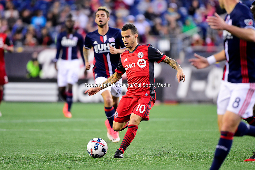 June 3, 2017: Toronto FC forward Sebastian Giovinco (10) plays the ball during the MLS game between Toronto FC and the New England Revolution held at Gillette Stadium in Foxborough Massachusetts. At halftime the Revolution lead Toronto FC 1-0. Eric Canha/CSM