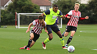 Colin Quaner of Huddersfield Town bursts through the Brentford defence during Brentford B vs Huddersfield Town Under-23, Friendly Match Football at Brentford FC Training Ground, Jersey Road on 12th September 2018