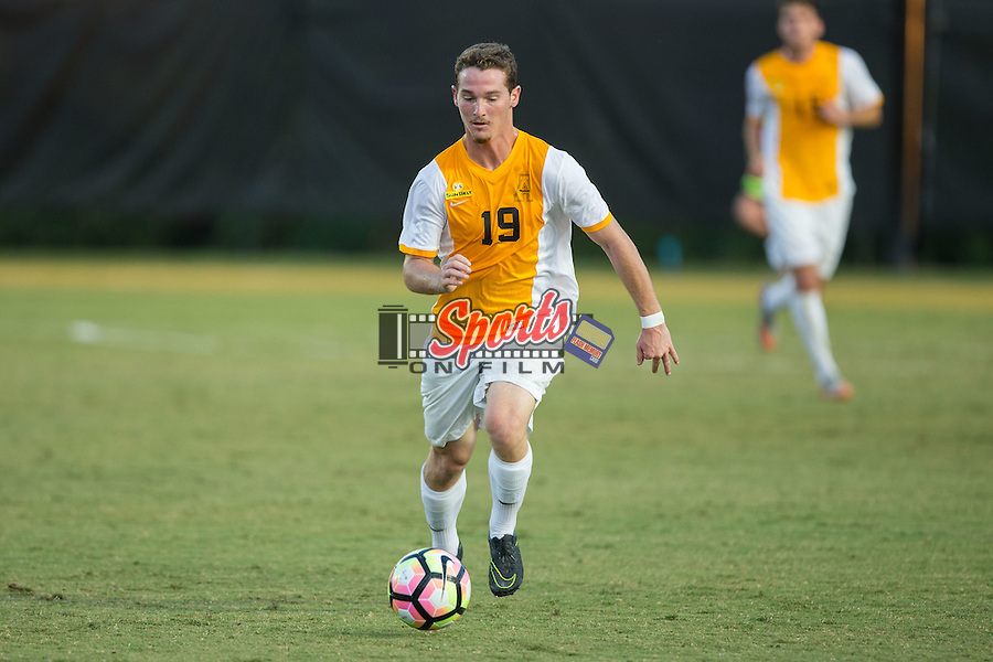 Graham Smalley (19) of the Appalachian State Mountaineers controls the ball during first half action against the Wake Forest Demon Deacons at Spry Soccer Stadium on September 6, 2016 in Winston-Salem, North Carolina.  The Demon Deacons defeated the Mountaineers 3-0.   (Brian Westerholt/Sports On Film)