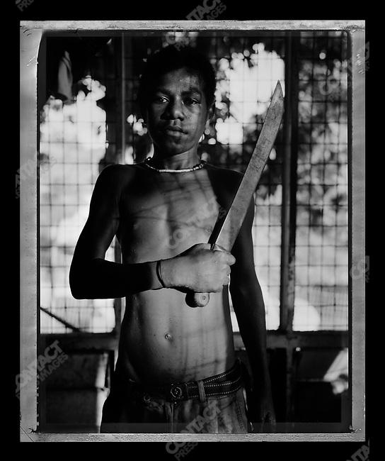 """Gaitzman,"" Raskols, gangs of Port Moresby, Papua New Guinea, January 2004"