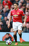 Alexis Sanchez of Manchester United during the premier league match at the Old Trafford Stadium, Manchester. Picture date 15th April 2018. Picture credit should read: Simon Bellis/Sportimage