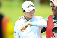 SINGAPORE - MARCH 03: Sung Hyun Park of South Korea reaction walking-off the 18th green during the final round of the HSBC Women's World Championship 2019 at Sentosa Golf Club - Tanjong Course, Singapore on March 03, 2019.<br /> .<br /> .<br /> .<br /> (Photo by: Naratip Golf Srisupab/SEALs Sports Images)<br /> .<br /> Any image use must include a mandatory credit line adjacent to the content which should read: Naratip Golf Srisupab/SEALs Sports Images