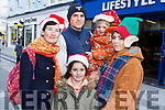 Enjoying the Christmas Parade on Saturday in Tralee.<br /> L-r, Nina McGiff, Ally and David Spring, Amy McGiff and Myia Spring.