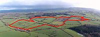 BNPS.co.uk (01202 558833)<br /> Pic: BNPS<br /> <br /> Red outline show the scale of the solar farm project. <br /> <br /> Thomas Hardy fans have slammed plans to build one of the UK's largest solar farms in the heart of Hardy Country.<br /> <br /> The enormous £20m solar farm would cover 187 acres, equivalent to 140 football pitches, and could produce enough power for more than 10,600 homes.<br /> <br /> But critics have said the application site, near the village of Longburton in Dorset, would be a blot on the farmland landscape that featured prominently in Hardy's Wessex novels.<br /> <br /> The proposed area at Stockbridge Farm is in the Blackmore Vale - which Hardy called the 'Vale of the Little Dairies' - and he writes about the landscape there in Tess of the D'Urbervilles (1891) and The Woodlanders (1887), as well as many of his poems.