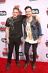 """""""INGLEWOOD, CALIFORNIA - APRIL 03:  Singers Kendall Schmidt (L) and Dustin Belt of Heffron Drive attend the iHeartRadio Music Awards at The Forum on April 3, 2016 in Inglewood, California.  (Photo by Jesse Grant/Getty Images for iHeartRadio / Turner)"""""""