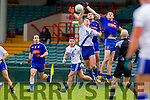 Denis Daly Saint Marys in action against Bobby O'Brien and Keith McCabe Ratoath in the Semi Final of the Intermediate Club Championship at the Gaelic Grounds in Limerick on Sunday.