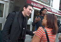 July 29,  2003, Montreal, Quebec, Canada<br /> <br /> British Documentary film maker Richard Stanley (L) speak with fans at the Fantasia Film Festival, July 29 2003  in Montreal, CANADA<br /> <br /> Mandatory Credit: Photo by Pierre Roussel- Images Distribution. (©) Copyright 2003 by Pierre Roussel