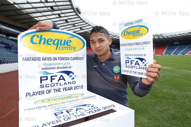 Emilio Izaguirre launches the search for this year's PFA Scotland player of the year