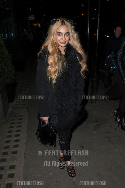 Zara Martin arriving for the launch party for new adult soft drink ZEO.Buddah Bar  Knightsbridge, London. 31/01/2013 Simon Burchell / Featureflash