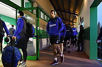 Zach Mercer and the rest of the Bath Rugby team arrive at the ground. European Rugby Champions Cup match, between Benetton Rugby and Bath Rugby on January 20, 2018 at the Municipal Stadium of Monigo in Treviso, Italy. Photo by: Patrick Khachfe / Onside Images