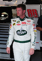 Oct 3, 2008; Talladega, AL, USA; NASCAR Sprint Cup Series driver Dale Earnhardt Jr during practice for the Amp Energy 500 at the Talladega Superspeedway. Mandatory Credit: Mark J. Rebilas-