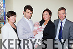 Maeve O'Malley who celebrated her christening with her parents Eanna and Marguerite, and god parents Trish Murphy and Cormac O'malley in St mary's church Beaufort on Saturday