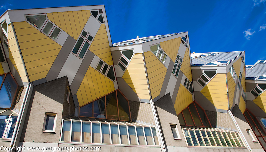 Kubuswoning Cube Houses, Blaak, Rotterdam, Netherlands architect Piet Blom
