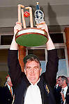 Pix: Shaun Flannery/shaunflanneryphotography.com...COPYRIGHT PICTURE>>SHAUN FLANNERY>01302-570814>>07778315553>>..28th August 1998..............Doncaster Town v Bath..Abbot Ale Cup final at Lords..Doncaster Town Captain Nick Cowan holds aloft the Abbot Ale Cup after a thrilling final at Lords v Bath.