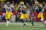 Green Bay Packers running back Brandon Jackson (32) carries the ball during Super Bowl XLV against the Pittsburgh Steelers on Sunday, February 6, 2011, in Arlington, Texas. The Packers won 31-25. (AP Photo/David Stluka)