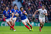10th February 2019, Twickenham Stadium, London, England; Guinness Six Nations Rugby, England versus France; Yoann Huget of France in open field as he is chased by Tom Curry of England