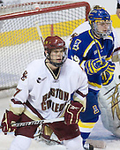 Carl Sneep (BC - 7), Andy Taranto (Alaska-Fairbanks - 29) - The Boston College Eagles defeated the University of Alaska-Fairbanks Nanooks 3-1 (EN) in their NCAA Northeast Regional semi-final on Saturday, March 27, 2010, at the DCU Center in Worcester, Massachusetts.