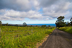 The rough road from the village of Pahala up to Cloud Rest, the coffee plantain in the Ka'u district of the Big Island of Hawaii