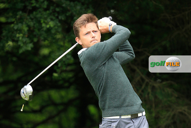 Toby Lane (England) on the 2nd tee during Round 3 of the Irish Boys Amateur Open Championship at Tuam Golf Club on Thursday 25th June 2015.<br /> Picture:  Thos Caffrey / www.golffile.ie