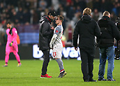 4th February 2019, London Stadium, London, England; EPL Premier League football, West Ham United versus Liverpool; A disappointed Klopp talking to Xherdan Shaqiri of Liverpool after the final whistle