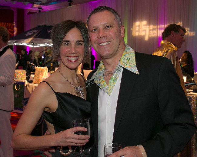 Christine and John Aramini during the 10th Annual Blue Tie Ball at the Peppermill Resort Spa Casino in Reno, NV on Friday night, Feb. 1, 2019.