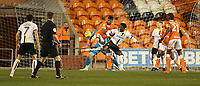 Blackpool's Donervon Daniels defends against Burton Albion's Devante Cole<br /> <br /> Photographer Stephen White/CameraSport<br /> <br /> The EFL Sky Bet League One - Blackpool v Burton Albion - Saturday 24th November 2018 - Bloomfield Road - Blackpool<br /> <br /> World Copyright © 2018 CameraSport. All rights reserved. 43 Linden Ave. Countesthorpe. Leicester. England. LE8 5PG - Tel: +44 (0) 116 277 4147 - admin@camerasport.com - www.camerasport.com