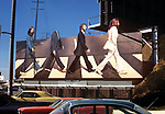 Beatles billboard for album Abbey Road on the Sunset Strip in West Hollywood.