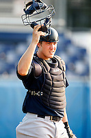 August 15, 2009:  Catcher Buck Afenir of the Staten Island Yankees during a game at Dwyer Stadium in Batavia, NY.  Staten Island is the Short-Season Class-A affiliate of the New York Yankees.  Photo By Mike Janes/Four Seam Images