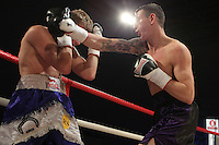 Callum Hancock vs Dan Blackwell in a boxing contest at the Hillsborough Leisure Centre, Sheffield, promoted by Hennessy Sports - 12/05/12