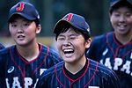 #5 Natsuki Hiruta of Japan laughing during the BFA Women's Baseball Asian Cup match between Pakistan and Japan at Sai Tso Wan Recreation Ground on September 4, 2017 in Hong Kong. Photo by Marcio Rodrigo Machado / Power Sport Images