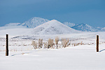 Snow-covered mountains around Wild Horse Reservoir--The Mahogonies and Jarbidge Mountains of Northern Nevada.
