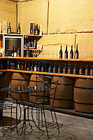 The tasting room arranged in a corner of the winery. Domaine Viret, Saint Maurice sur Eygues, Drôme Drome France, Europe