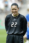 1 August 2004: Xiao Zhen. The United States defeated China 3-1 at Rentschler Field in East Hartford, CT in an women's international friendly soccer game..
