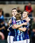 Stockholm 2015-03-05 Fotboll Svenska Cupen Djurg&aring;rdens IF - IFK Norrk&ouml;ping :  <br /> Djurg&aring;rdens Daniel Berntsen firar sitt 2-0 m&aring;l med Haris Radetinac och Jesper Karlstr&ouml;m  under matchen mellan Djurg&aring;rdens IF och IFK Norrk&ouml;ping <br /> (Foto: Kenta J&ouml;nsson) Nyckelord:  Djurg&aring;rden DIF Tele2 Arena Svenska Cupen Cup IFK Norrk&ouml;ping Peking jubel gl&auml;dje lycka glad happy