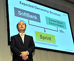 October 15, 2012, Tokyo, Japan - President Masayoshi Son of Japan's Softbank announces a deal his company has reached with American wireless operator Sprint Nextel Corp. during a presentation in Tokyo on Monday, October 15, 2012...Sharp Corp. announced that it is.Softbank and Sprint, the third-largest mobile phone companies in Japan and U.S.respectively, have reached the agreement under which the Japanse mobile company pays $20 billion to acquire a 70% stake in the U.S. cellular phone company, thus creating one of the the leading communications groups in the world with a total of 90 million mobile phone subscriptions.  (Photo by Natsuki Sakai/AFLO) AYF -mis-