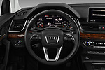 Car pictures of steering wheel view of a 2018 Audi Q5 Prestige 5 Door SUV