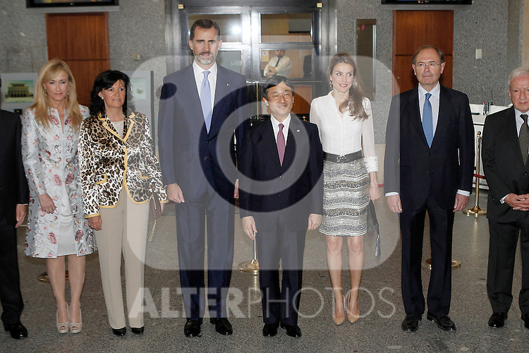 Princes Felipe and Letizia of Spain and the Imperial Highness the Crown Prince of Japan Hiro-no-miya Naruhito Shinno attend the opening concert of the year Spain-Japan.June 10,2013. (ALTERPHOTOS/Acero)