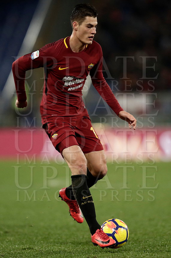 Calcio, Serie A: AS Roma vs Cagliari, Roma, stadio Olimpico, 16 dicembre 2017.<br /> Roma's Patrik Schick  in action during the Italian Serie A football match between AS Roma and Cagliari at Rome's Olympic stadium, December 16, 2017.<br /> UPDATE IMAGES PRESS/Isabella Bonotto