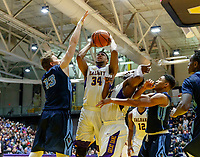 University at Albany men's basketball defeats Maine at the  SEFCU Arena, Feb. 24, 2018.  Alex Foster (#34). (Bruce Dudek / Eclipse Sportswire)