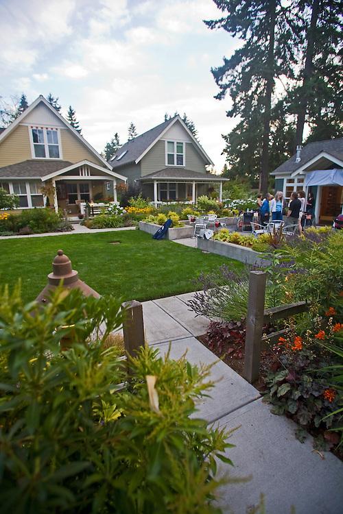 Potluck, Lifestyle, Danielson Grove, a new pocket community, Craftsman style cottages, by the Cottage Company, Linda Pruitt, Developer, Ross Chapin Architect, Seattle area, Kirkland, Washington,