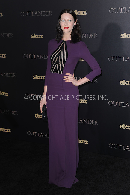 WWW.ACEPIXS.COM<br /> April 1, 2015 New York City<br /> <br /> Caitriona Balfe attending STARZ Original series &ldquo;Outlander&rdquo; celebration of &ldquo;Droughtlander&rdquo; at a special premiere screening of &ldquo;The Reckoning&rdquo; at The Ziegfeld Theater on  April 1, 2015 in New York City.<br /> <br /> Please byline: Kristin Callahan/AcePictures<br /> <br /> ACEPIXS.COM<br /> <br /> Tel: (646) 769 0430<br /> e-mail: info@acepixs.com<br /> web: http://www.acepixs.com