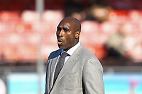 Macclesfield Town manager Sol Campbell during Crawley Town vs Macclesfield Town, Sky Bet EFL League 2 Football at Broadfield Stadium on 23rd February 2019