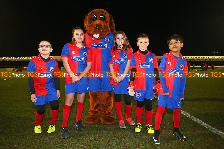 Digger the Dog with the mascots during Dagenham & Redbridge vs West Ham United, Save The Daggers Friendly Match Football at the Chigwell Construction Stadium on 21st March 2018