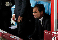 Juventus' coach  Massimiliano Allegri  during the  italian serie a soccer match against   , SSC Napoli    at  the San  Paolo   stadium in Naples  Italy , September 26 , 2015