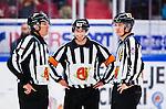 S&ouml;dert&auml;lje 2014-09-22 Ishockey Hockeyallsvenskan S&ouml;dert&auml;lje SK - IF Bj&ouml;rkl&ouml;ven :  <br /> domare Mikael Andersson med domare Fredrik Carlman och domare David Laksola <br /> (Foto: Kenta J&ouml;nsson) Nyckelord: Axa Sports Center Hockey Ishockey S&ouml;dert&auml;lje SK SSK Bj&ouml;rkl&ouml;ven L&ouml;ven IFB domare referee ref portr&auml;tt portrait glad gl&auml;dje lycka leende ler le